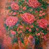 Impression of Roses - Oils on Canvas