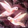 Dove Hummers -Acrylics on Wood